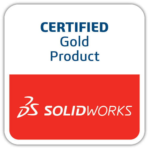 Certified Gold Product - SOLIDWORKS